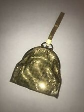 Vintage Whiting & Davis Gold Tone Mesh Purse-Strap Handle-Clutch