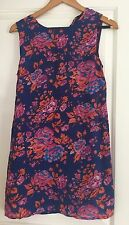 EBONY EVE DESIGNER SILK FLORAL PRINT DRESS SZ 6