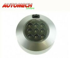 Quality 12v 9 LED Switched Mini Spot Light,Silver finish Caravan/Motorhome 82921