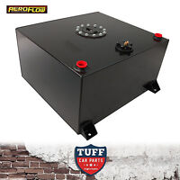 Aeroflow 57lt Anodized Black Baffled Fuel Cell with Sump & Sender AF85-2150ASBLK