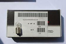 Pack 10 x BA9S 12v 330mA 4.0w tubular instrument ++ bulbs D9mm L24mm