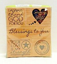 Hero Arts Operation Write Home Rubber Stamp Set of 5 Wood Mounted