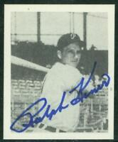 Original Autograph of Ralph Kiner HOF of the Pitts. Pirates on a Reprint Card