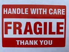 50 (Fifty) FRAGILE Handle With Care Stickers 2