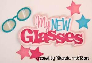 New Glasses GirlTitle paper piecing premade scrapbook page Rhonda rm613art