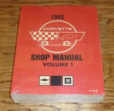 1986 Chevrolet Corvette Service Shop Manual Volume 1 & 2 Set 86 Chevy