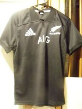 New Zealand All Blacks Nzr Rugby Jersey Adidas Home Kids Large New with Tags Nwt