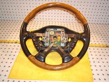 Jaguar 2001 S Type Leather WOOD Black Steering Genuine OEM 1 Wheel / No air bag