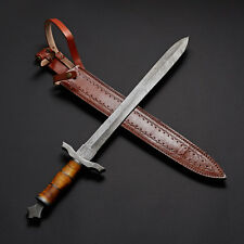 Handmade Damascus Steel Sword Knife Battle ready 27  Inches