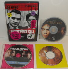 Dvd Movie Lot The Libertine The Ninth Gate Requiem For A Dream Righteous Kill
