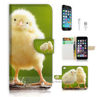 ( For iPhone 6 / 6S ) Wallet Case Cover! P1841 Little Chicken
