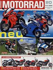 Motorrad 20 2004 Beta Alp 4.0 BMW K 1200 S Edimo KTM 950 Rieju MRX 125 BT 1100