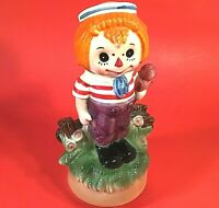 RAGGEDY ANDY MUSIC BOX ROTATING PLAYS LOVE STORY SONG 8 1/2 INCHES VINTAGE