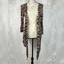 French Laundry Women Plus Size 22//24 2x Brown Animal Print Cardigan Sweater Top