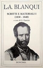 LOUIS-AUGUSTE BLANQUI SCRITTI E MATERIALI I 1 ISONOMIA 1988