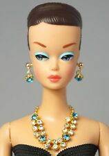 Barbie Dol Vintage Handmade Turquoise Stone Necklace Earrings Jewelry Set NE2147