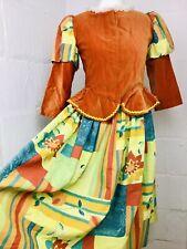 Harlequin VTG Orange Theatre Costume Skirt Set Girls Age 12-14 Women's 6/8 XS
