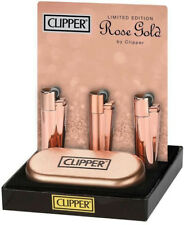 METAL CLIPPER LIGHTER ROSE GOLD MATT or SHINE LIMITED EDITION -NEW-