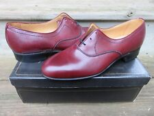 NEW Andre Marseille Hanover Oxford Burgandy Dress Shoes Black Size 10 D NOS