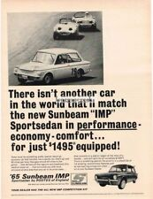1965 Sunbeam Imp Sportsedan on race track Vtg Print Ad