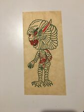 Vintage Creature From The Black Lagoon Monster Transfer Weirdo Iron-On