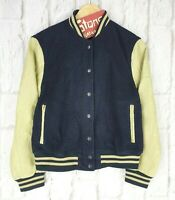 Gant Rugger Home-Run Varsity Letterman Wool and Leather Bomber Jacket £250 New S