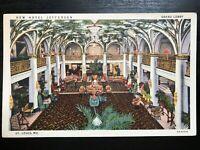 Vintage Postcard>1931>New Hotel Jefferson>Grand Lobby>St. Louis>Missouri