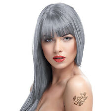 Crazy Color Semi-Permanent Silver Grey Bright Colour Hair Dye 100ml Single