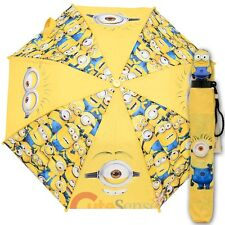 Despicable Me 2 Minions Kid Size Umbrella / 3d Figurine Handle Licensed - Yellow