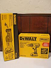 "DeWALT 20-Volt Max 1/2"" Cordless Drill with Reciprocating Saw, #DCD771380BVB"
