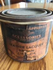 Rare Vintage HARLEY-DAVIDSON Motor Co. 1/4 Pint CAN of Brown Leather Lacquer