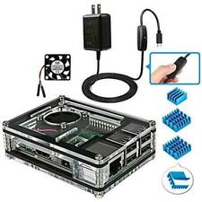 Miuzei Raspberry Pi 3b Case With Fan Cooling and 3 Heat Sinks