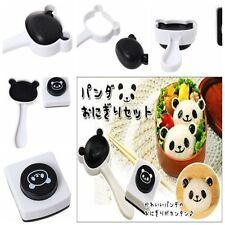 Kitchen Utensils Panda Bento Sushi Rice Ball Mould Onigiri Mold + Nori Punch  Z