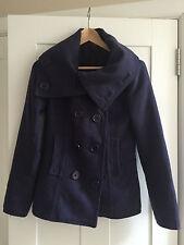 H&M Hip Length Wool Blend Casual Coats & Jackets for Women