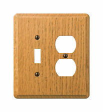 Amerelle  Contemporary  2 gang Wood  Duplex/Toggle  Wall Plate  1 pk
