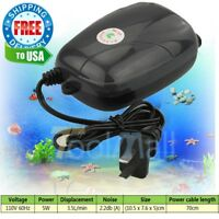 110V 2Air Bubble Disk Stone Aerator Hole Pump For Fish Tank Aquarium Pond Oxygen