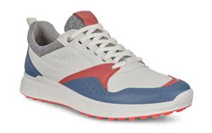 Ecco Golfschuh Damen S-Casual Retro Blue/Coral Neon Gr. 36 10280351923