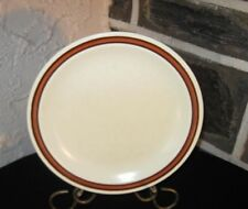 Dish's Stoneware restaurant J-81 Brown /red brown stripe fine china Homer 7 1/4