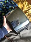 Vtg Antique Westinghouse Chrome 2 Slot Toaster Bakelite Handles Works