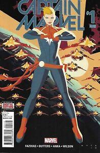 Captain Marvel Comic 1 Cover H Variant Kris Anka Second Print 2016 Tara Butters