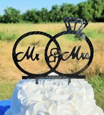 Carbon Fiber Mr and Mrs Cake Silhouette Topper, Cnc Wedding Cake Topper, Custom