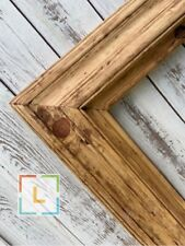 Rustic wood frame, natural color wood, custom picture frame, country frame, BARN