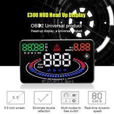 "E300 5.5"" HD Universal OBD2 Car HUD GPS Head Up Display Speed Temp/Volt Gauge"