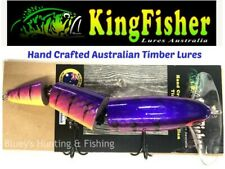 Kingfisher Timber Lures jointed surface V4 abela Murray cod Barra Lures