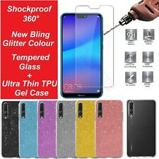 Ultra Clear Gel Case Cover & Tempered Glass for Huawei P10 P20 Lite Plus P Smart