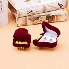 Engagement Wedding Gift Case Storage Box Velvet Piano Ring Box Earring Pendant