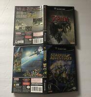 Lot Of 2 Nintendo Gamecube Cases ONLY Zelda Twilight Princess Starfox Adventures