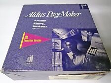 ALDUS PAGEMAKER EDUCATION VERSION 4.2A AND 5.0 WITH 4.0 MANUALS AND PDD DISKS