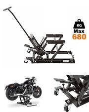 cric sollevatore a carrello/cavalletto/idraulico alza moto motocicli 680 kg