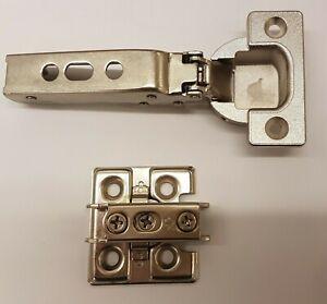 Heavy duty Concealed Hinge & Plate f Wood/Glass doors (overlay) (Lamp/Sugatsune)